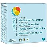 SONETT Waschpulver color SENSITIV 10 kg für Allergiker mit Bio-Panamarinde - geeignet wäscht bereits ab 20°C Buntes und Feines aus Baumwolle, Leinen, Kunstfasern und Mischgewebe