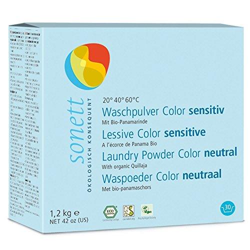 Sonett Waschpulver Color Sensitiv: Mit Bio-Panamarinde und reiner Bio-Pflanzenseife, 10 kg