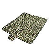 BAITER Portable Camouflage Picnic Mat Foldable Large Outdoor Travel Camping Dampproof Tent Blankets for Beach, Baby Crawling, Children Playing, Sleeping, Yoga, Hiking, Walking, Hunting and Shooting Activities