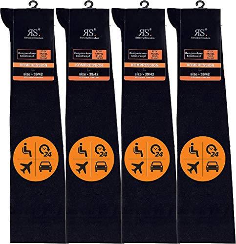 RS. Harmony | Stützstrümpfe | Elastische Helfer mit Kompression | 4 Paar | schwarz | 39-42
