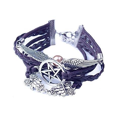 LHWY Retro Women Style Wings Bracelet Bangle Charm Cuff Jewelry