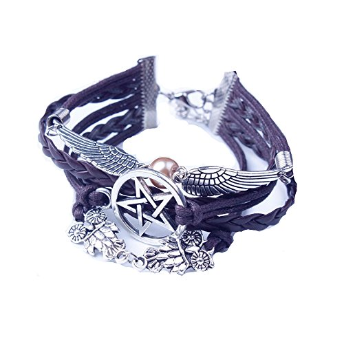 LHWY Retro Women Style Wings Bracelet Bangle Charm Cuff Jewelry