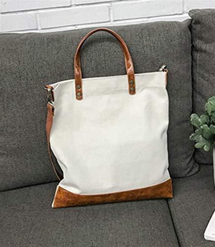 MARCU Home Umhängetasche Frauen Große Kapazität Leinwand Schulter Crossbody Tasche Passende Tasche Einkaufstasche Weiß (Schulter Leinwand Body Tasche Cross)