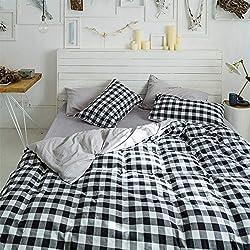 BFMBCH Literie de Haute qualité Coton rayé Coton Quatre pièces Housse de Couette Couvre-lit Ensemble L1 150cmx200cm