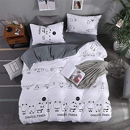 YUNSW Einfachen Stil Bettwäsche Set Bettbezug Bettwäsche Weicher Baumwolle Quilt Tröster Kissenbezug Tagesdecken Königin König Größe E 150x200 cm / 59x79in -