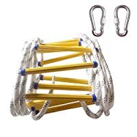 Rope Ladder, 5-20 Meters Emergency Fire Escape Ladders - Soft Safety Ladder with Carabiners for Kids and Adults Escape from Window and Balcony