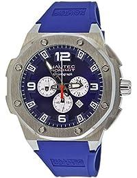 Nautec No Limit Sailfish SF QZ/RBSTSTBL - Reloj para hombres, correa de goma color azul