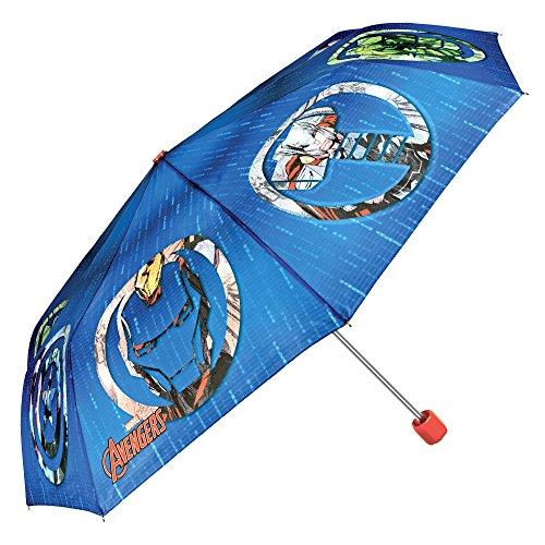 Preisvergleich Produktbild Perletti 75335 Marvel Avengers Kinder Schirm für Jungen,  Leichter Kompakter und Windfester Regenschirm
