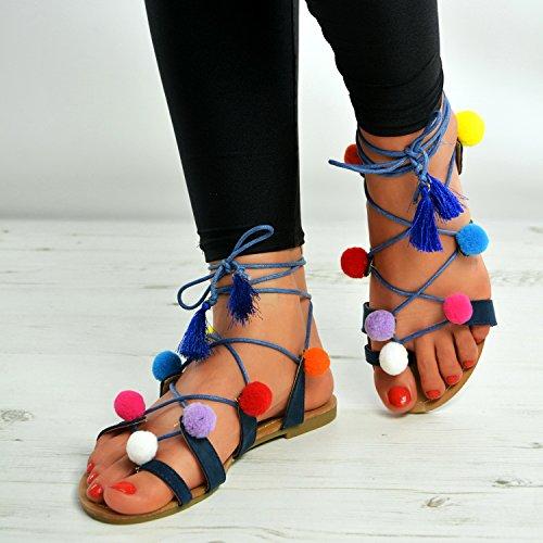 Cucu Fashion , Peep-Toe femme Bleu Marine