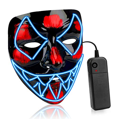 Halloween Kostüm Party Kinder - AnseeDirect Halloween Maske Venom Led Maske