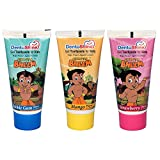 DentoShine Chhota Bheem Gel Toothpaste for Kids - Pack of 3 Flavors (Strawberry, Mango & Bubble Gum)