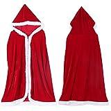 Cape à capuchon de Noël Costume Manteau avec Capuchon pour le Fête de Noël Cosplay de Femme et Homme (M-100cm)