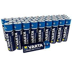 Varta Longlife Power Batterie (AA Mignon Alkaline Batterien LR6, 40er Pack)