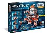 Clementoni RoboMaker 250 - Roboter-Bausatz (Roboter-Bausatz 8 Jahre) 250 Teile (schwarz, grau, orange, Italien, 525 mm)