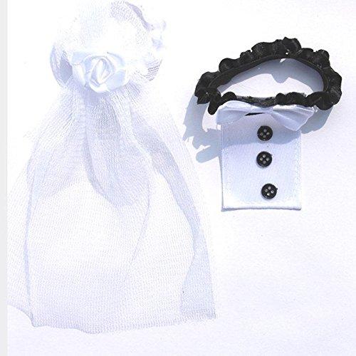 Calistous Decoración para copa de cristal, para boda, diseño de novios