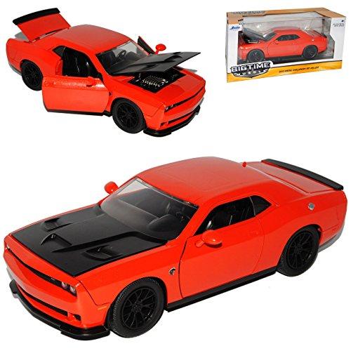 dodge-challenger-srt-hellcat-lc-coupe-orange-rot-schwarze-motorhaube-ab-2008-1-24-jada-modell-auto-m