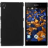 mumbi Schutzhülle Sony Xperia Z1 Hülle (harte Rückseite) matt schwarz (Aussparung f. magnetisches Ladekabel vorhanden, passt NICHT mit Dockingstation)