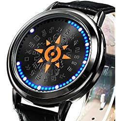 XINGYUNSHI Boys Watch Anime Watches Touch Screen LED Watch Blue Light-9288
