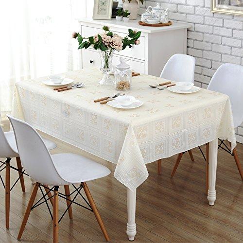 JinYiDian'Shop Spitze wasserfeste Tischdecke, wasserdichte Ölfreie waschen Tischdecke Tisch Kissen pastorale Europäischen Tischdecke, single, B, 137 20 cm (Spitze Florales Kissen)