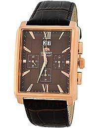 Orient Reloj Cronógrafo para Hombre de Cuarzo con Correa en Cuero FTVAA001T0