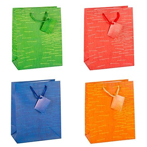 """TSI 85011 Geschenkbeutel """"Laura"""", 12er Packung, Größe: Mittel (23 x 18 x 10 cm)"""