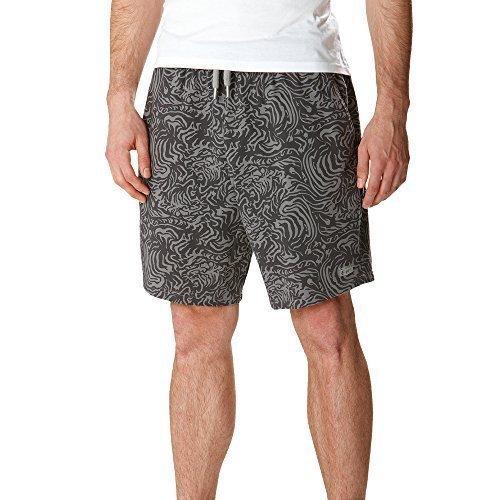 Asics Herren Laufshort kurze Freizeitshort aus Jersey Grau mit Print (L) (Asics Jersey-shorts)