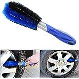 almondcy- cepillo de rueda de coche herramienta de limpieza, llantas de coche Cepillo de lavado de neumáticos aplicables a todos los coche.