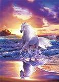 1art1 40519 Pferde - Fantasy 4-teilig, Fototapete Poster-Tapete (254 x 183 cm)