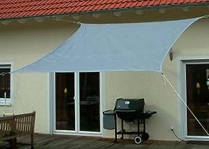 Sonnensegel Sonnenschutz 3 x 3  m Quadrat / Viereck, grau / silber  (LP Nr.3-9-1 )