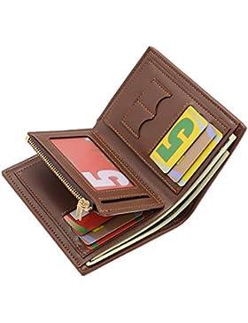 Billetera Bifold Hombres Sailinna Bloqueo Carteras Zip Monedero Slots SIM Carteras de Titular de Tarjeta de crédito