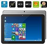 Chuwi HI12 Win10 / Windows 10 Tablet PC 12 '2160 * 1440 Mostra 64Bit Quad Core 4 GB di RAM 64 GB ROM Intel Z8300 HDMI 5.0MP Tablet 11000mAh batteria BT4.0 WiFi
