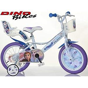 51qKbdGuNDL. SS300 Cicli Puzone Bici 14 Frozen Dino Bikes Art. 144 R-FZ3 Modello Nuovo