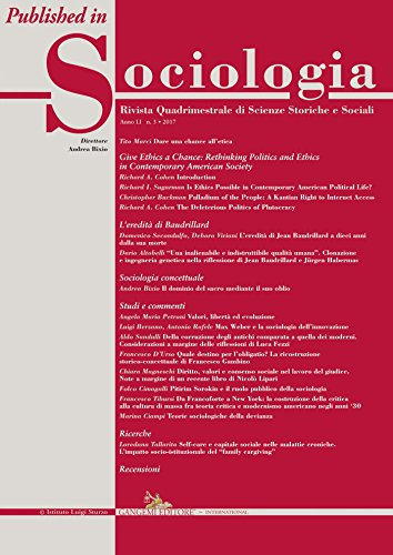 L'eredità di Jean Baudrillard a dieci anni dalla sua morte: Published in Sociologia n. 3/2017 – Rivista quadrimestrale di Scienze Storiche e Sociali | ... for practical political life as understood