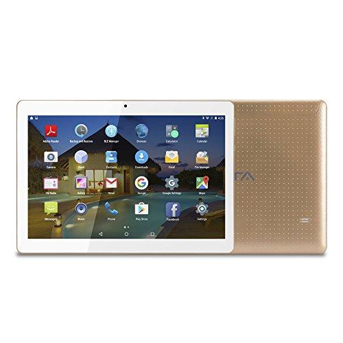 10 pollici (10.1) Tablet BEISTA con Funzione Telefono (Android 7.0,Processore Quad Core,Capacità 16 GB, RAM 2 GB,3G Dual Sim,Wlan / Wifi,GPS,OTG)- Oro