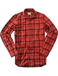 BOSS Orange Herren Hemd open red Oberhemd, Größe: L, Farbe: Rot