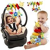 Pixnor Espiral actividades colgar juguetes del cochecito de bebé juguetes carro asiento cochecito juguete con campana de timbre - Pixnor - amazon.es