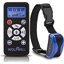 WOLFWILL Collar Adiestramiento para Perros a distancia - 800 yardas impermeable y recargable collar con la automatización ajustable, pitido, vibración, linterna para los amantes del perro (1 collar)