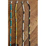 Density Collection Set Of 4 Face Mask Lanyard for Women Men Colorful Bead Face Mask Holders || Pearl Mask Chain Extender || B