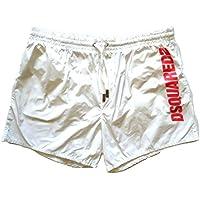 DSQUARED Costume da Bagno Boxer Corto da Uomo D7B640900.110 Bianco 52 b6c1e0ea775e