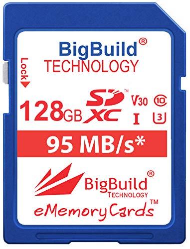 BigBuild Technology 128GB UHS-I U3 95MB/s Speicherkarte für Nikon 1 J1, S1, V2, Nikon COOLPIX A10, A100, A300, A900, AW130, B500, B700, P1000, P900, W100, W300 Kamera A900 Kamera