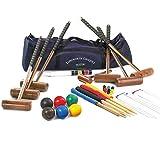 Longworth Croquet Set - Set da croquet per 6 Adulti, in borsa di tela