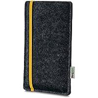 stilbag Funda Leon para Huawei P20 Pro | Color: Amarillo/Antracita | Bolsa de Fieltro para Smartphone | Cubierta Protectora para móvil | Cajas para móvil Made in Germany