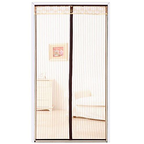 Copper Mosquito Streifen tür Vorhang mit Heavy-Duty mesh Vorhang, Magnetstreifen Fliegengitter tür insektenschutz Velcro Mesh-Vorhang halten sie Fehler aus-A 90x210cm(35x83inch)