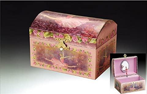 Childrens Purple Musical Music Box Jewelry Music Box Spinning Dancing Ballerina Drawer-Tune is Swan Lake by Broadway Gifts Co.