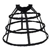 Prettyia Fasching Karnebal Halloween Party Kostüm Petticoat Reifrock Unterröcke A-line Stoffband Für Hochzeit Brautkleid Kleid Slip Petticoat - Schwarz Klein, wie beschrieben