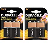 Duracell Alkaline 9V Battery With Duralock Technology - 2 Pieces(Pack Of 2) (9v2)