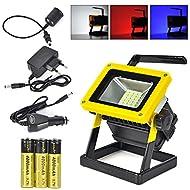 GRH Portable 24LED Work Light 20W Lampe d'inondation rechargeable Extérieur étanche 3 modes Lumières d'éclairage Appareils ménagers rechargeables Éclairage de secours Feux de pêche
