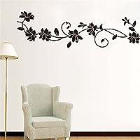Romote Cartel del Arte Mural Habitación DIY Negro Vid de la Flor Pegatinas de Pared Ventana del refrigerador del Armario Decoración Decorativa de Estar Decal