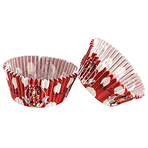 50 Moules En Papier Pour Cupcakes Minnie Mouse ©