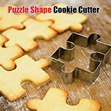Aliciashouse In Acciaio Inox Puzzle Forma Cookie Cutter Stampo Torta Del Fondente Decora Strumento - Acciaio Inox Porta Cerniere